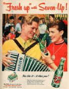 Vintage Seven up Advertisement Poster